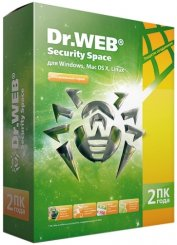Dr.Web Security Space 2ПК 2г. коробка